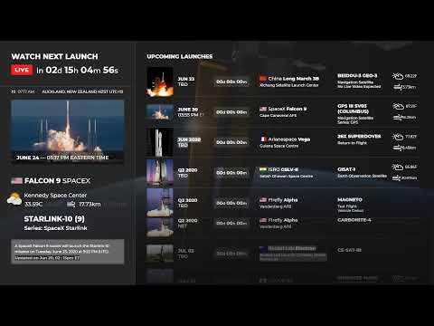 [EN VIVO] Programa de lanzamiento de cohetes: NASA, SpaceX, ULA, BlueOrigin | Calendario espacial 24/7 Cuenta regresiva + Chat