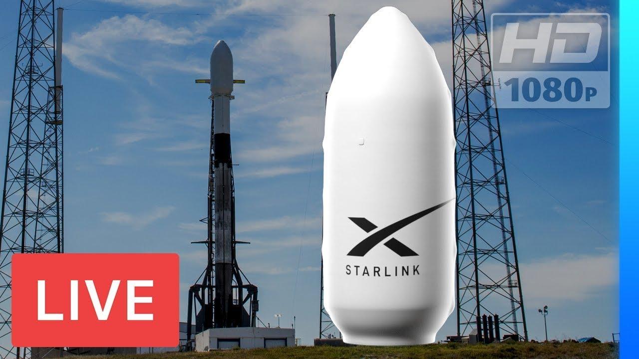 MIRE AHORA: SpaceX lanzará Starlink Falcon 9 #InternetCommunicationSatellites @ 10: 05am EST