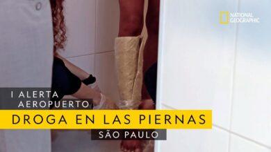 Esconde algo en sus piernas para intentar pasar el control   Alerta Aeropuerto São Paulo