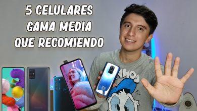 Top 5 mejores smartphones GAMA MEDIA 2020
