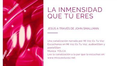 LA INMENSIDAD QUE TÚ ERES – Jesús a través de John Smallman | Canalización