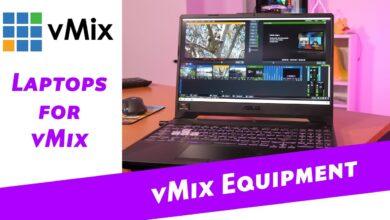 Computadoras portátiles con transmisión en vivo para vMix 2020. ¡Producción portátil multicámara!