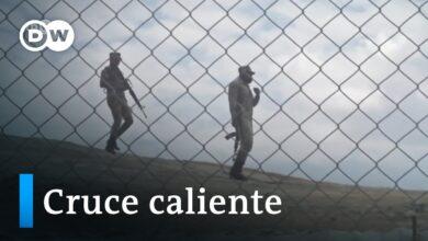 Muro en la frontera con Haití